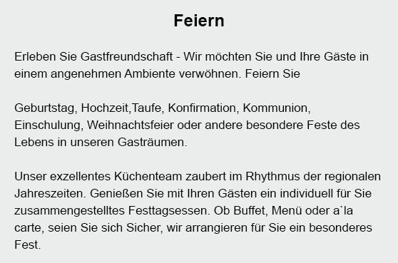 Familienfeiern in  Heiligkreuzsteinach