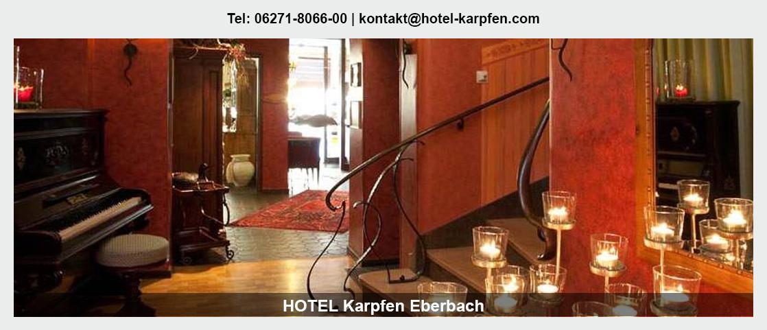 Hotel in Neckargerach - Hotel Karpfen: Übernachtung, Mittagstisch