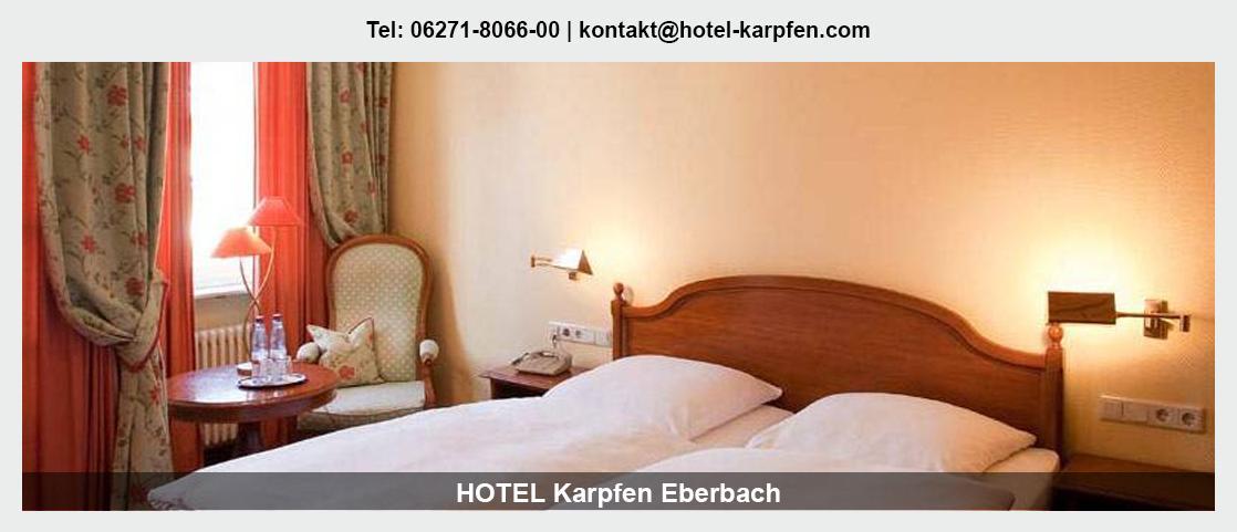 Hotel Höchst (Odenwald) - Hotel Karpfen: Übernachtung, Übernachtung