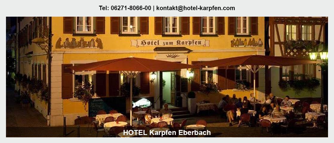 Hotel in Heiligkreuzsteinach - Hotel Karpfen: Übernachtung, Übernachtung