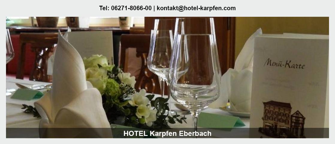 Hotel für Otzberg - Hotel Karpfen: Übernachtung, Mittagstisch